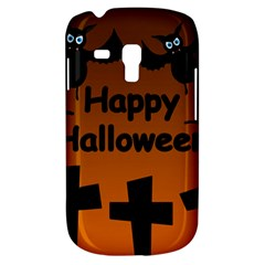 Happy Halloween   Bats On The Cemetery Samsung Galaxy S3 Mini I8190 Hardshell Case by Valentinaart