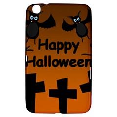 Happy Halloween   Bats On The Cemetery Samsung Galaxy Tab 3 (8 ) T3100 Hardshell Case  by Valentinaart