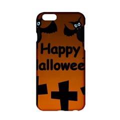 Happy Halloween   Bats On The Cemetery Apple Iphone 6/6s Hardshell Case by Valentinaart