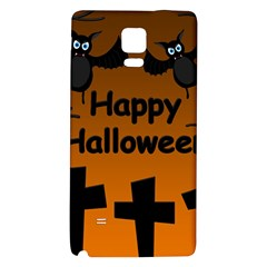 Happy Halloween   Bats On The Cemetery Galaxy Note 4 Back Case by Valentinaart
