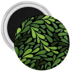 Free Green Nature Leaves Seamless 3  Magnets by AnjaniArt