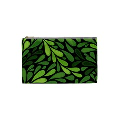 Free Green Nature Leaves Seamless Cosmetic Bag (small)  by AnjaniArt
