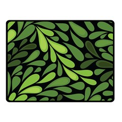 Free Green Nature Leaves Seamless Fleece Blanket (small) by AnjaniArt