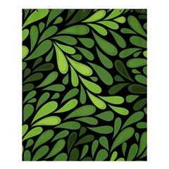 Free Green Nature Leaves Seamless Shower Curtain 60  X 72  (medium)  by AnjaniArt