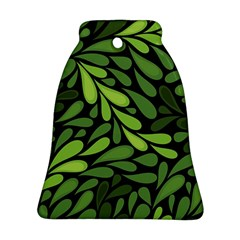 Free Green Nature Leaves Seamless Ornament (bell)  by AnjaniArt