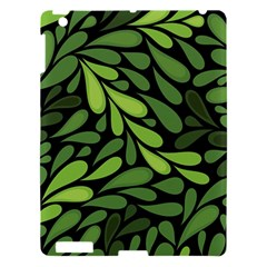 Free Green Nature Leaves Seamless Apple Ipad 3/4 Hardshell Case by AnjaniArt