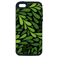 Free Green Nature Leaves Seamless Apple Iphone 5 Hardshell Case (pc+silicone) by AnjaniArt