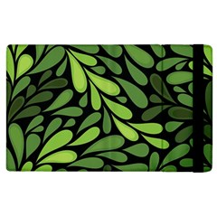 Free Green Nature Leaves Seamless Apple Ipad 3/4 Flip Case by AnjaniArt