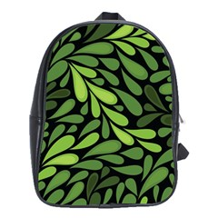 Free Green Nature Leaves Seamless School Bags (xl)  by AnjaniArt