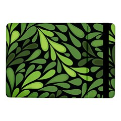 Free Green Nature Leaves Seamless Samsung Galaxy Tab Pro 10 1  Flip Case by AnjaniArt