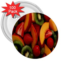 Fruit Salad 3  Buttons (100 Pack)  by AnjaniArt