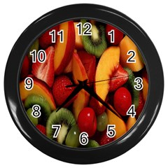Fruit Salad Wall Clocks (black) by AnjaniArt