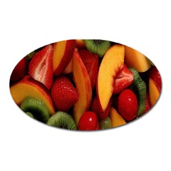 Fruit Salad Oval Magnet by AnjaniArt