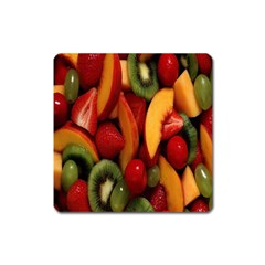 Fruit Salad Square Magnet by AnjaniArt