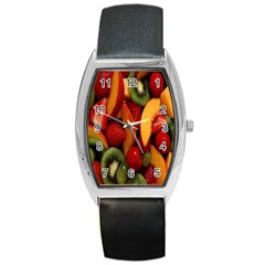 Fruit Salad Barrel Style Metal Watch by AnjaniArt