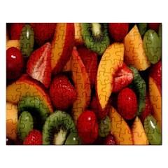 Fruit Salad Rectangular Jigsaw Puzzl by AnjaniArt