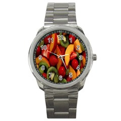 Fruit Salad Sport Metal Watch by AnjaniArt