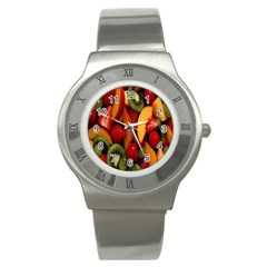 Fruit Salad Stainless Steel Watch by AnjaniArt