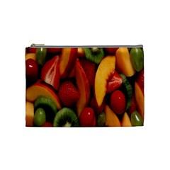 Fruit Salad Cosmetic Bag (medium)  by AnjaniArt