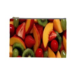 Fruit Salad Cosmetic Bag (large)  by AnjaniArt