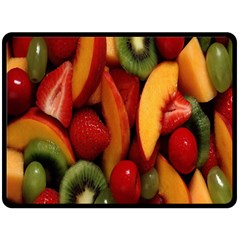 Fruit Salad Fleece Blanket (large)  by AnjaniArt