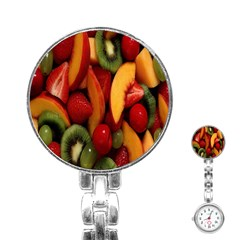 Fruit Salad Stainless Steel Nurses Watch by AnjaniArt