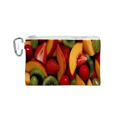 Fruit Salad Canvas Cosmetic Bag (s) by AnjaniArt