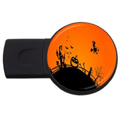 Halloween Day Usb Flash Drive Round (4 Gb)  by AnjaniArt