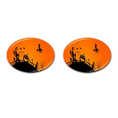 Halloween Day Cufflinks (oval) by AnjaniArt