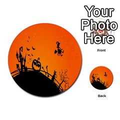 Halloween Day Multi Purpose Cards (round)  by AnjaniArt