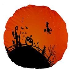 Halloween Day Large 18  Premium Flano Round Cushions by AnjaniArt