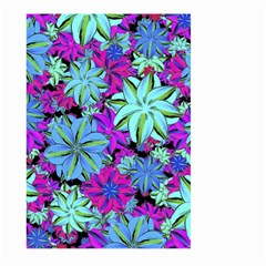 Vibrant Floral Collage Print Large Garden Flag (two Sides) by dflcprints
