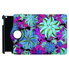 Vibrant Floral Collage Print Apple Ipad 2 Flip 360 Case by dflcprints