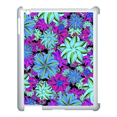 Vibrant Floral Collage Print Apple Ipad 3/4 Case (white) by dflcprints