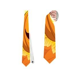 Halloween Pumpkin Neckties (one Side)  by AnjaniArt