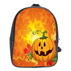 Halloween Pumpkin School Bags(large)  by AnjaniArt