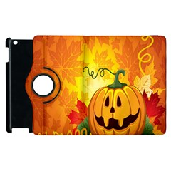 Halloween Pumpkin Apple Ipad 3/4 Flip 360 Case by AnjaniArt