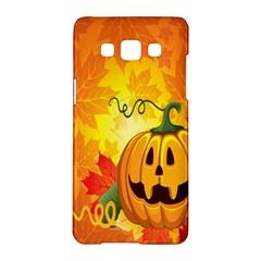 Halloween Pumpkin Samsung Galaxy A5 Hardshell Case  by AnjaniArt