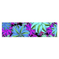 Vibrant Floral Collage Print Satin Scarf (oblong) by dflcprintsclothing