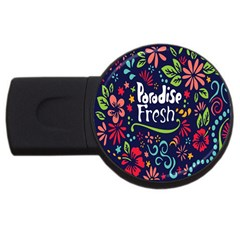Hawaiian Paradise Fresh Usb Flash Drive Round (2 Gb)  by AnjaniArt