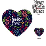 Hawaiian Paradise Fresh Multi-purpose Cards (Heart)  Back 1