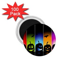 Hellowen Face 1 75  Magnets (100 Pack)  by AnjaniArt