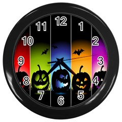 Hellowen Face Wall Clocks (black) by AnjaniArt