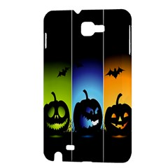 Hellowen Face Samsung Galaxy Note 1 Hardshell Case by AnjaniArt