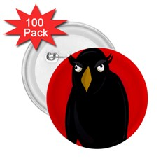 Halloween   Old Raven 2 25  Buttons (100 Pack)  by Valentinaart