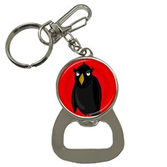 Halloween   Old Raven Bottle Opener Key Chains by Valentinaart