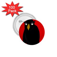 Halloween   Old Raven 1 75  Buttons (100 Pack)  by Valentinaart