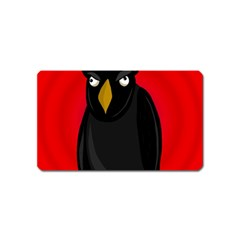 Halloween   Old Raven Magnet (name Card) by Valentinaart