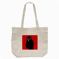 Halloween   Old Raven Tote Bag (cream) by Valentinaart