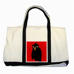 Halloween   Old Raven Two Tone Tote Bag